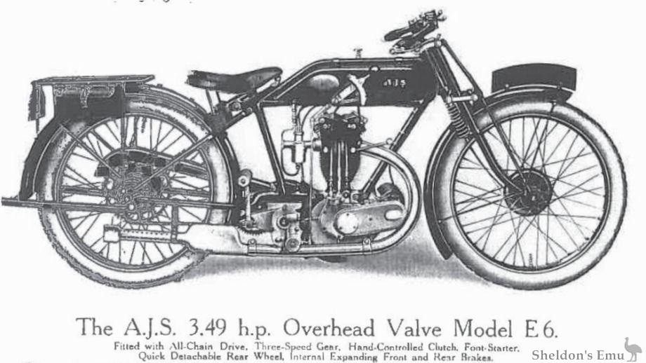 AJS 1925 Model E6