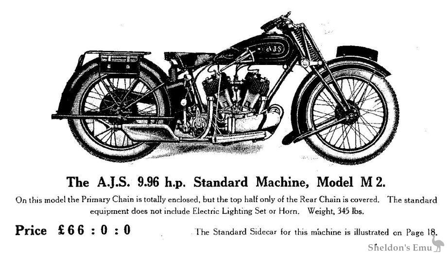 AJS 1929 Model M2
