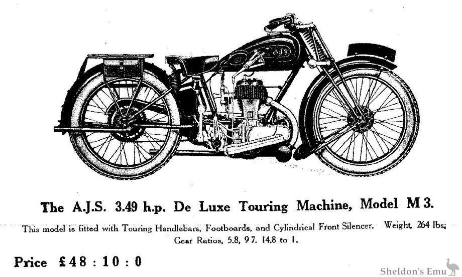 AJS 1929 Model M3