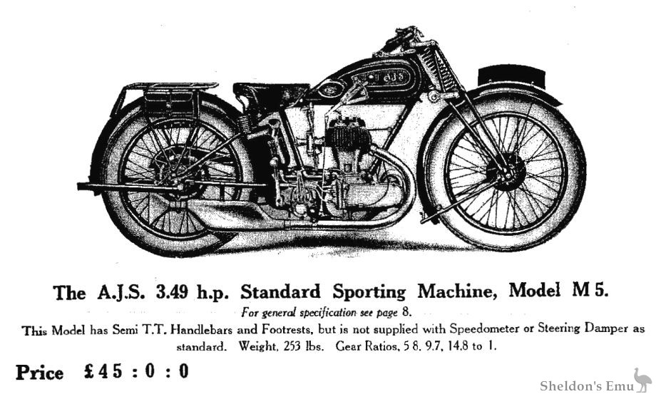 AJS 1929 Model M5