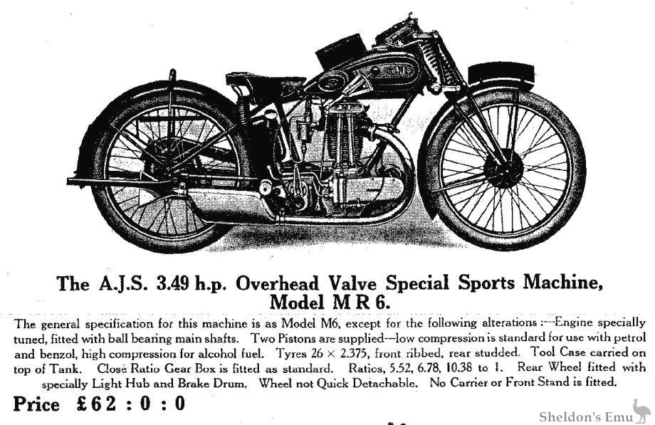 AJS 1929 Model Model MR6