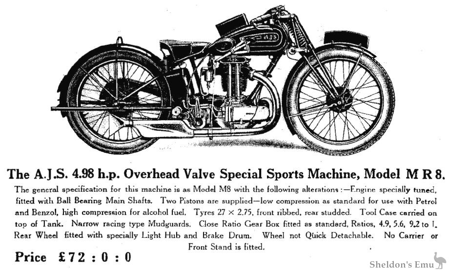 AJS 1929 Model MR8