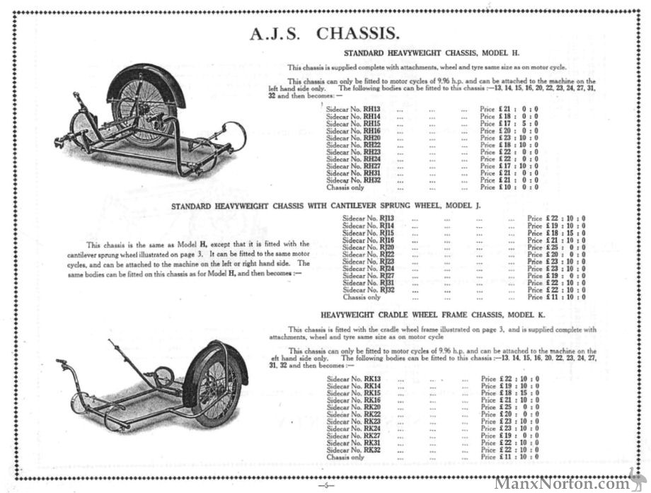 AJS 1930 Sidecar Chassis, Page 6