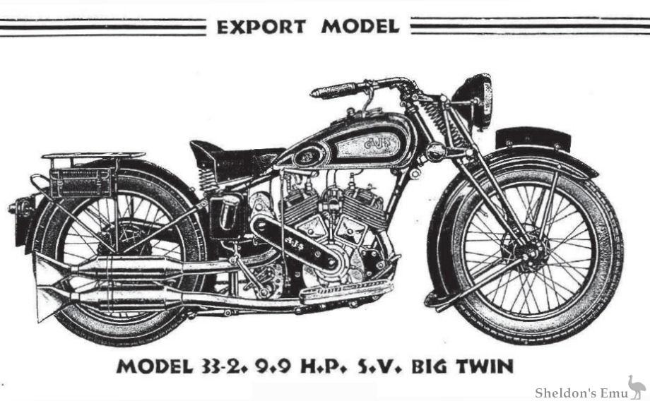 AJS 1933 Model 2 9.9 h.p SV V-Twin