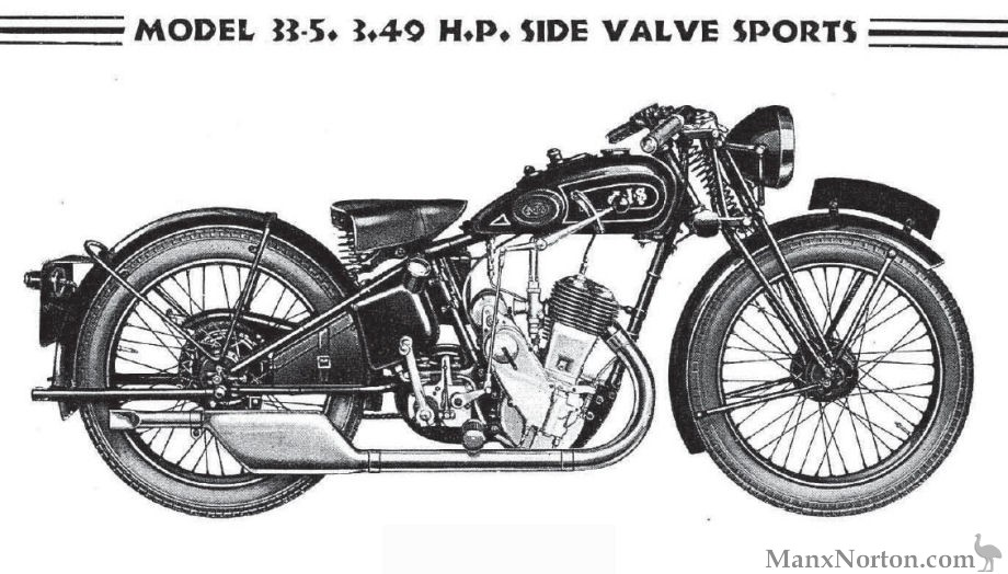 AJS 1933 Model 5 3.49 h.p. SV