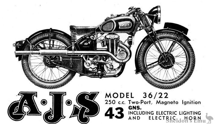AJS 1936 Model 22 250cc OHV