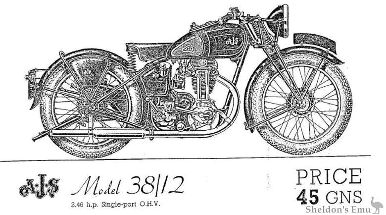 AJS 1938 Model 38-12 246cc