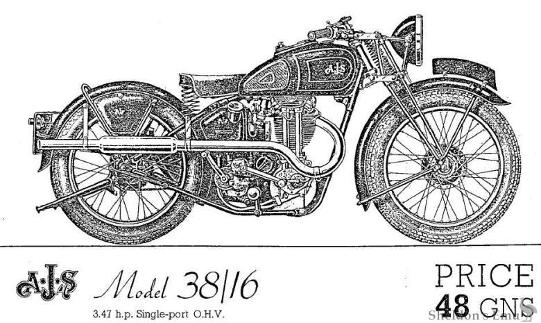 AJS 1938 Model 38/16