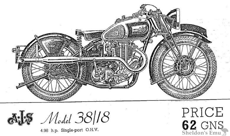 AJS 1938 Model 38/18
