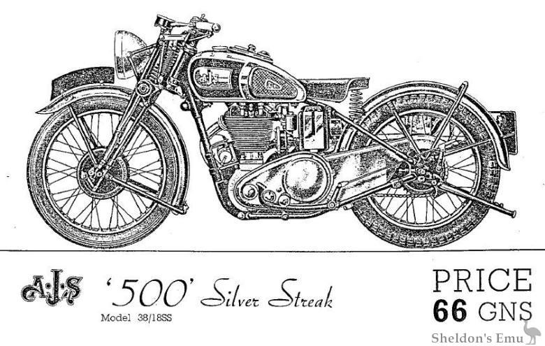 AJS 1938 Models
