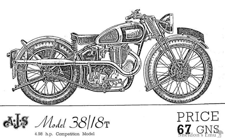 AJS 1938 Model 38-18T