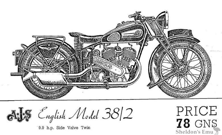 AJS 1938 Model 38/2 V Twin Catalogue