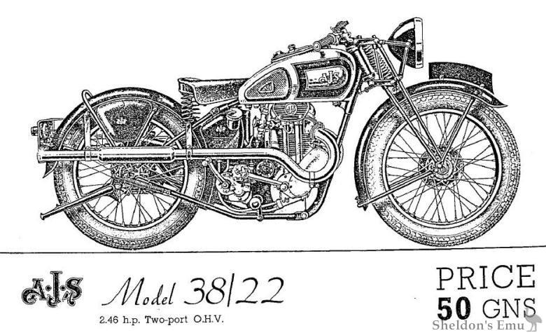 AJS 1938 Model 38-22 OHV