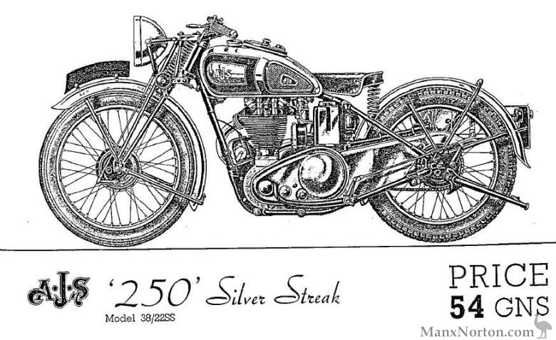 AJS 1938 Model 38/288SS Silver Streak 250cc
