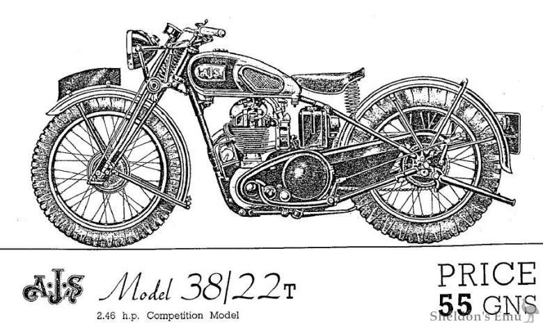 AJS 1938 Model 38/22T