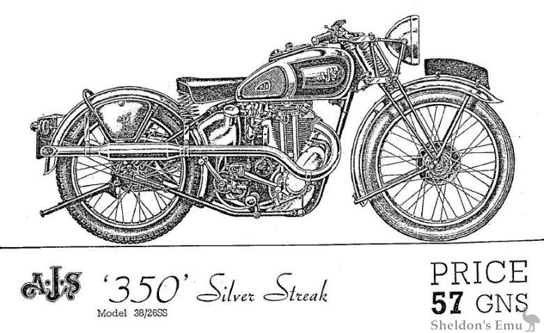 AJS 1938 350 Silver Streak