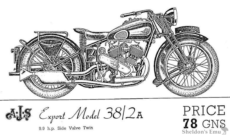 AJS 1938 Model 38 2A V-Twin