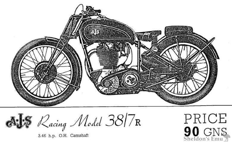 AJS 1938 Racing Model 38/7R