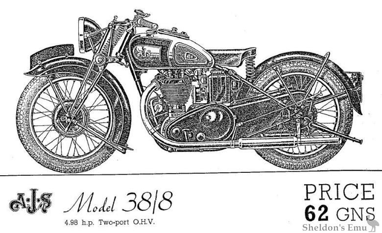 AJS 1938 Model 38/8 Two-port OHV