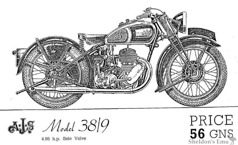 AJS 1938 Model 38/9 Sidevalve
