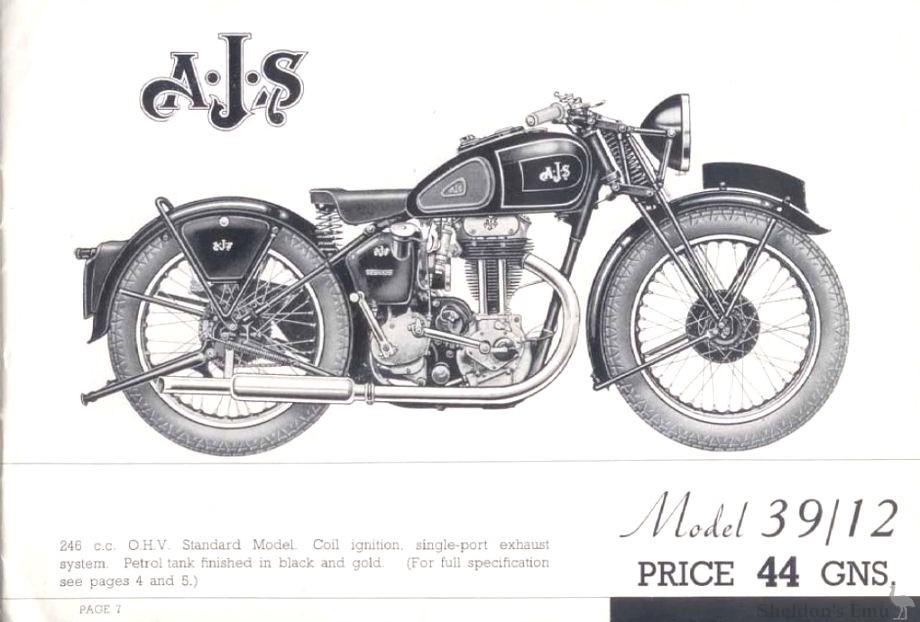 AJS 1939 Model 12