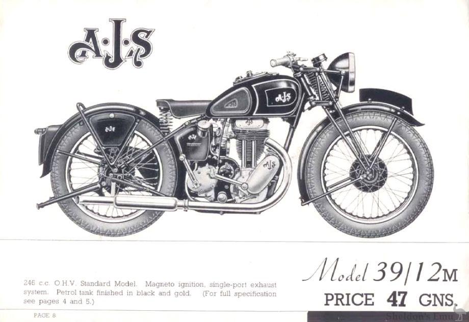 AJS 1939 Model 12M