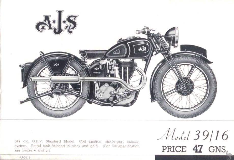 AJS 1939 Model 16