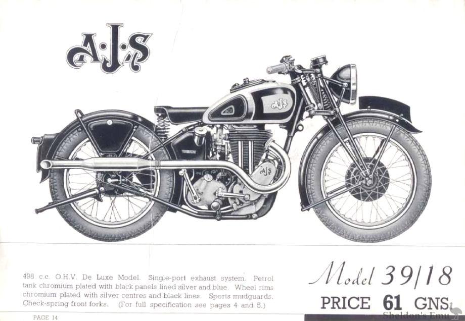 AJS 1939 Model 18