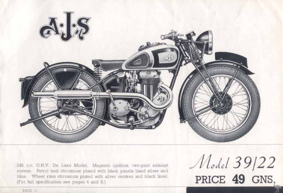 AJS 1939 Model 22