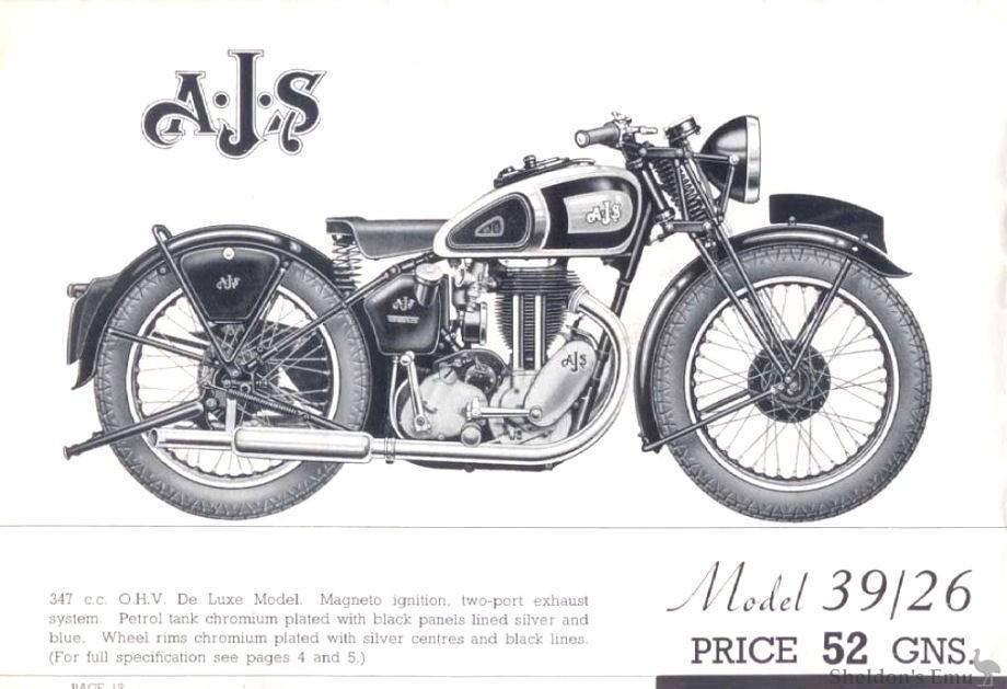 AJS 1939 Model 26 347cc