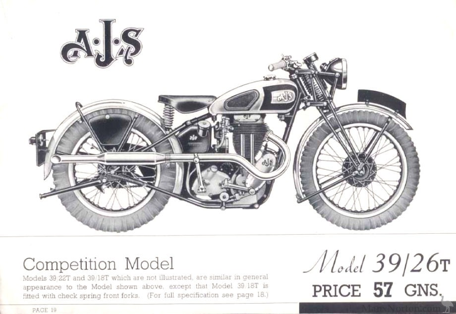 AJS 1939 Model 26T
