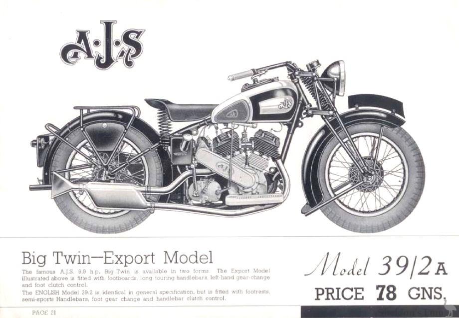 AJS 1939 Model 2A