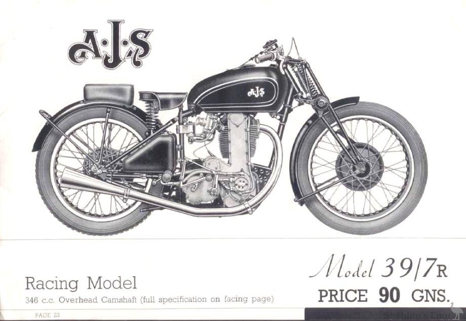 AJS 1939 Model 7R