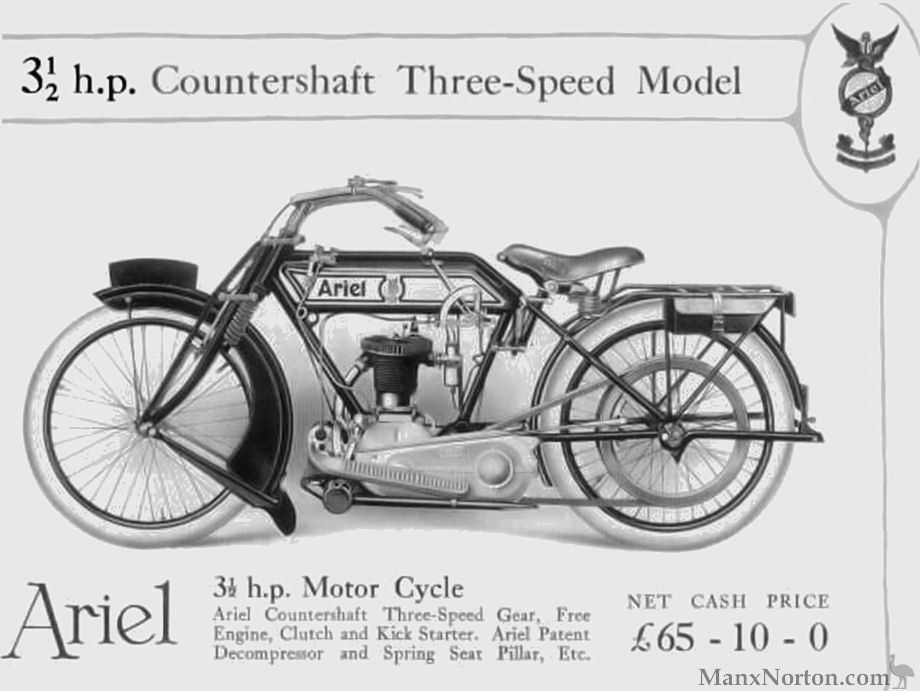 Ariel 1916 3.5hp Motor Cycle