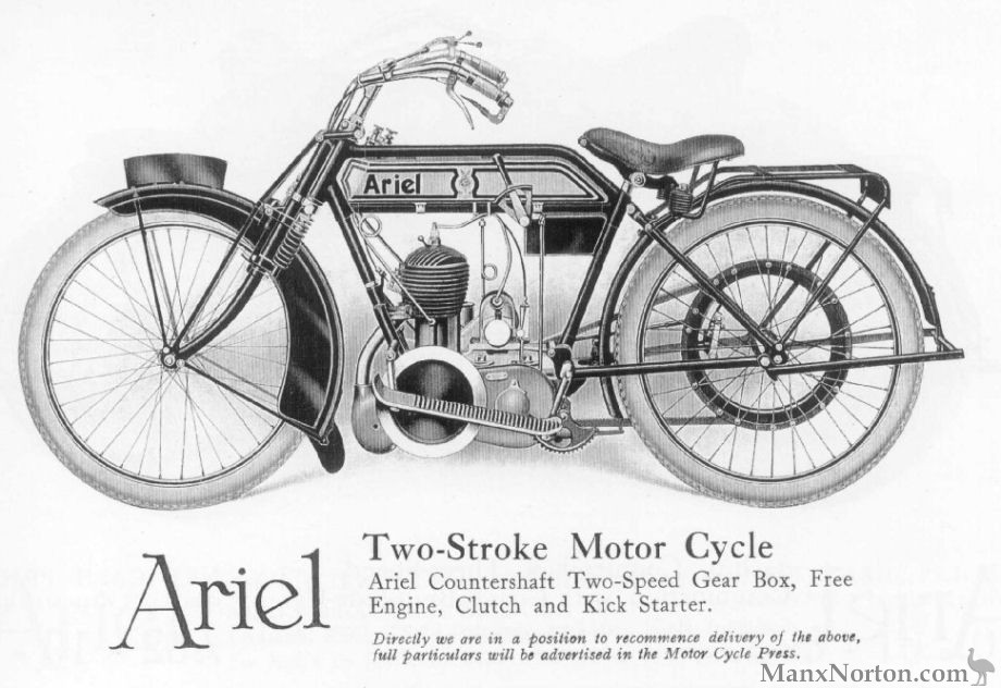 Ariel 1916 Two-Stroke Motorcycle