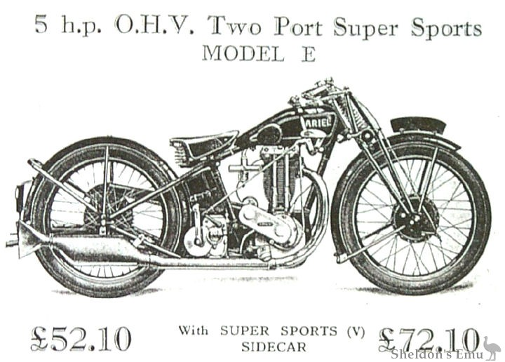 Ariel 1928 5HP Model E Two-Port