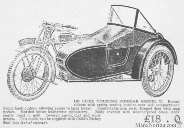 Ariel 1929 Touring Sidecar Model U