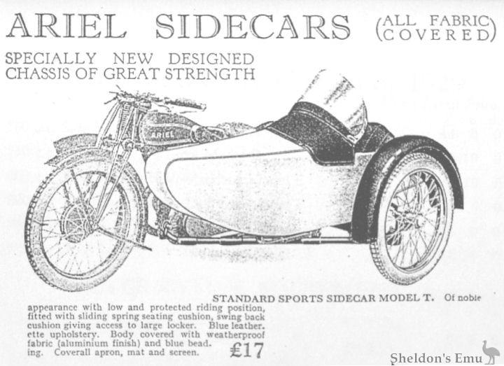 Ariel 1929 Side Car Model T