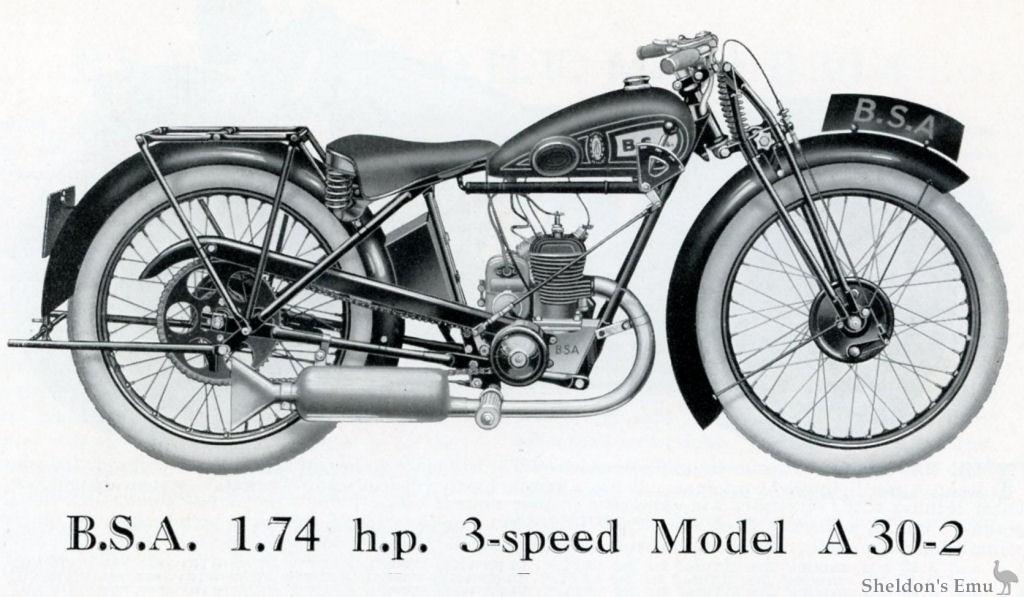 BSA A30 1930 Twostroke