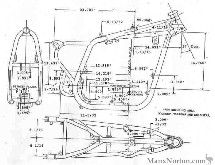 BSA 1954 A10 Goldstar Frame