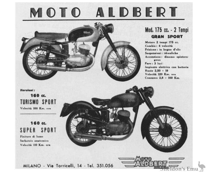 Aldbert 160cc & 175cc Milano 1953