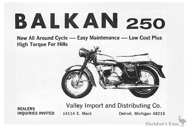 Balkan c1961 US Dealer
