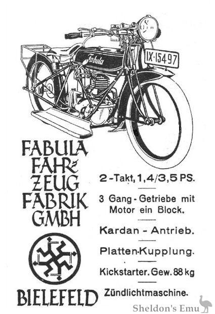 Fabula 1924 246cc 2T Cardan
