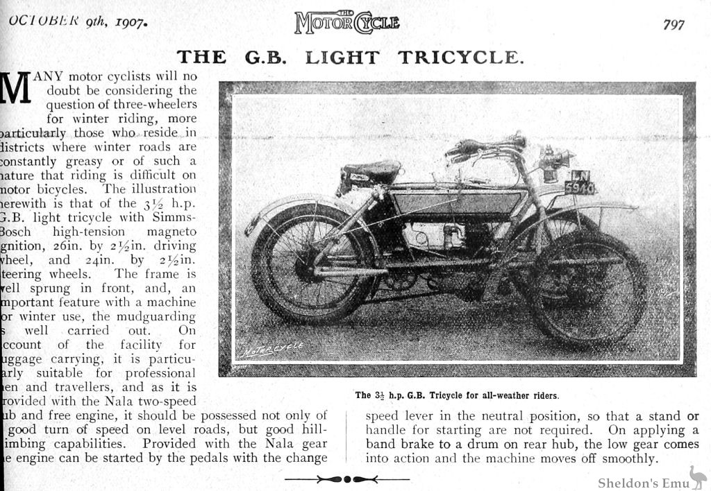 GB Tricycle 1907