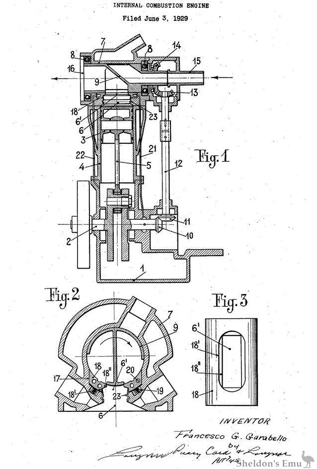 Garabello 1929 Rotary Valve Engine