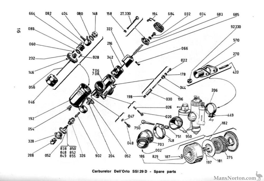 Ducati 350 Scrambler Parts Diagram