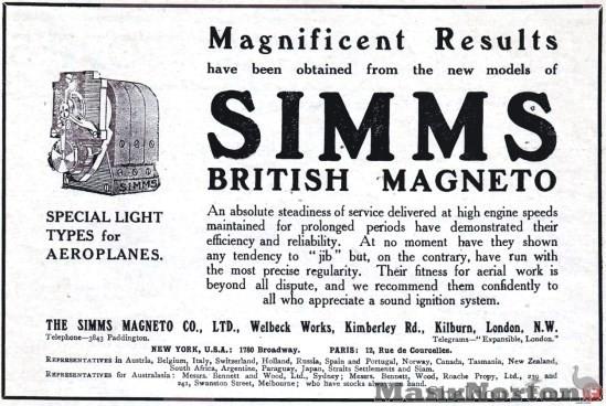 Simms Magneto 1911