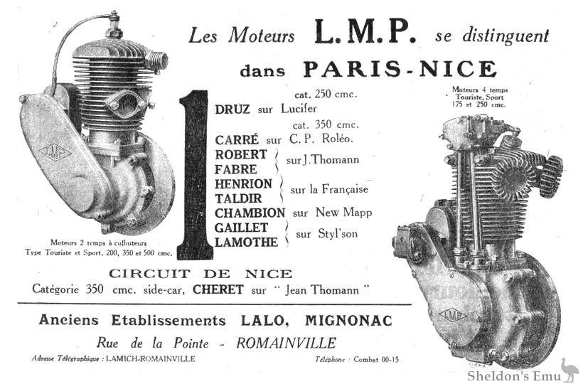 LMP Engines, France