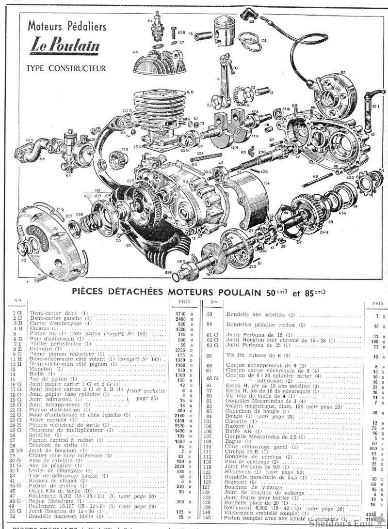 Le Poulain 50cm3 85cm3 Engine Diagram