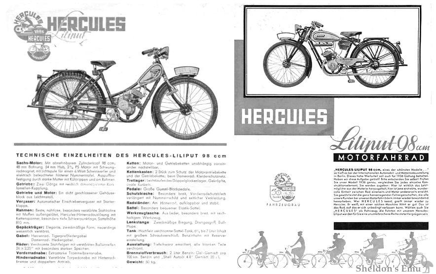 Hercules Lilliput 98cc 1936 Motorfahrrad